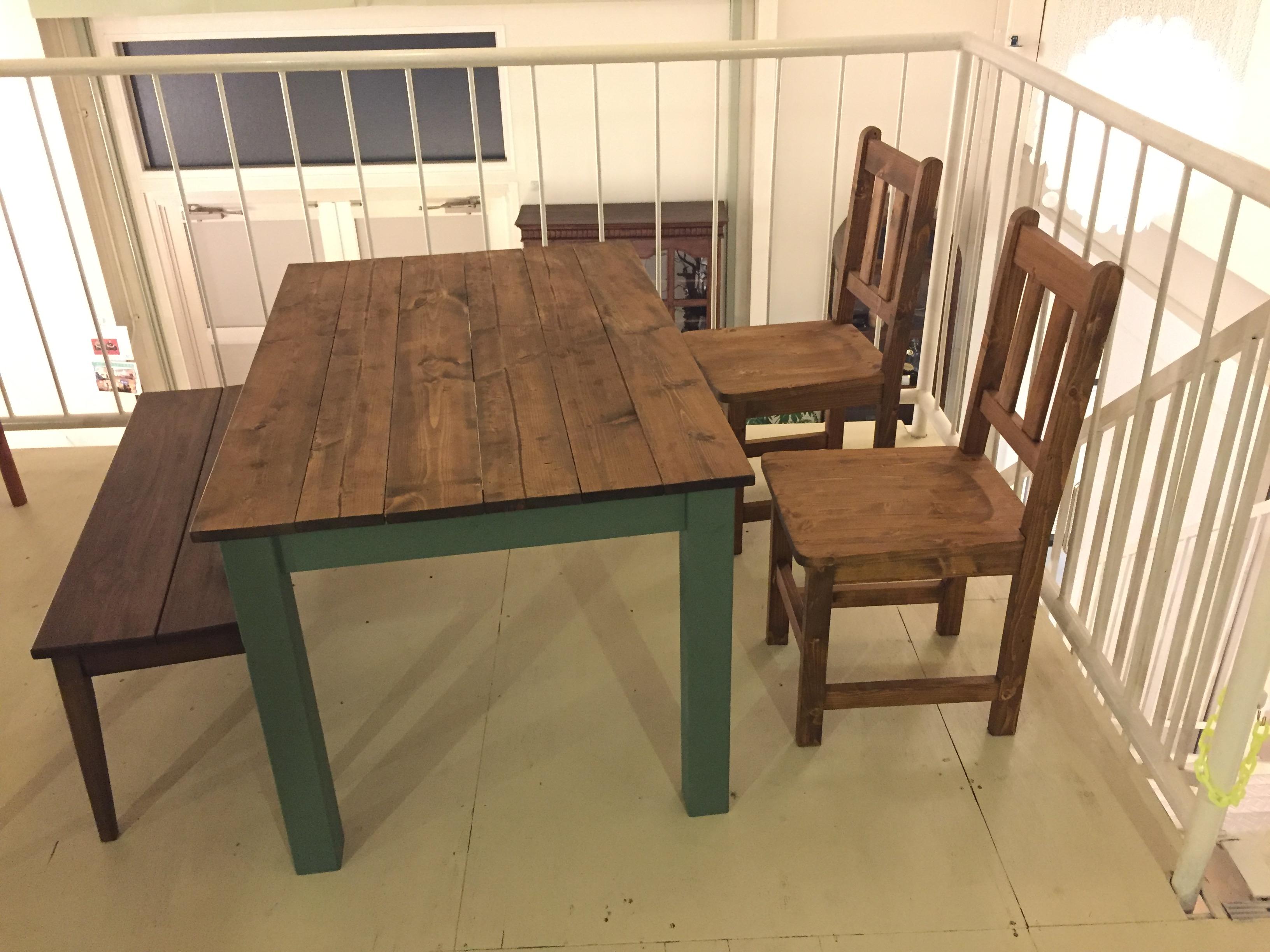 宇都宮 ダイニングテーブルセット ハンドメイド 買取り